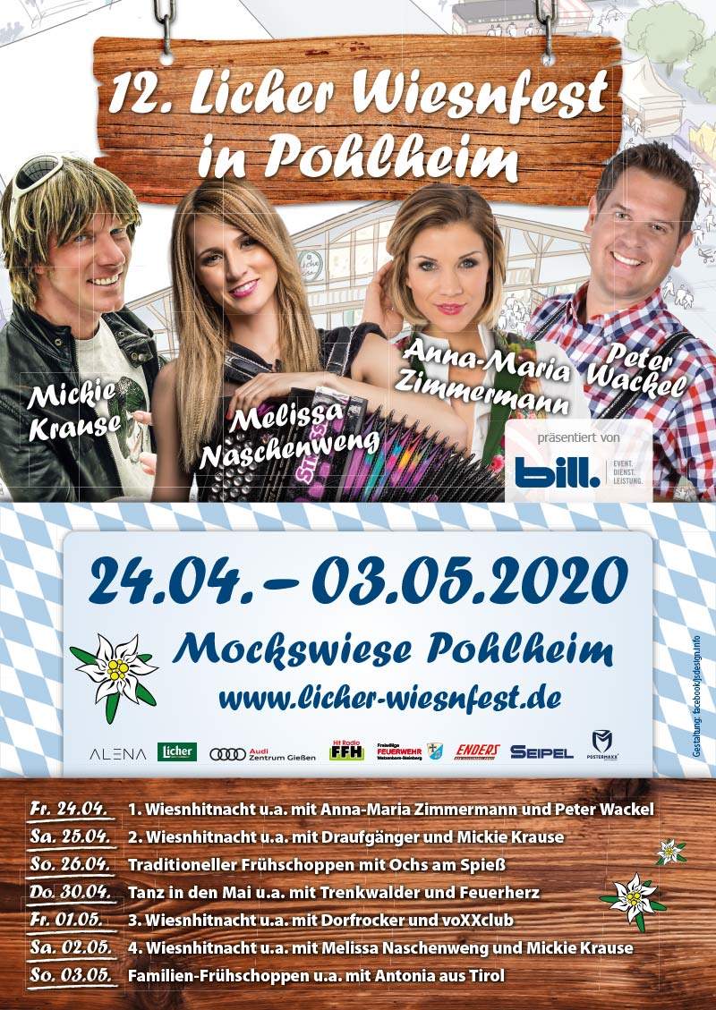 Licher Wiesnfest Pohlheim 2020 - Plakat